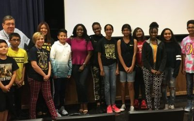 T.Schor Middle School Alumni Inspires Students